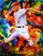 Mlb Metal Prints - Baseball  I Metal Print by Lourry Legarde