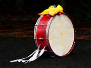 Drums Metal Prints - Bass Drum at Parade Metal Print by Susan Savad