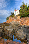 Rocks. Tidal Pool Posters - Bass Harbor Head Light III Poster by Clarence Holmes