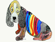 Dog Art Posters - Basset Poster by Brian Buckley