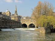 Pulteney Bridge Framed Prints - Bath Framed Print by Ron Harpham