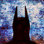 Batman Digital Art Metal Prints - Batman - Dark Knight Number 3 Metal Print by Bob Orsillo