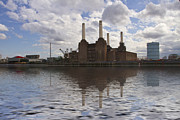 London Skyline Art - Battersea Power Station London by David French