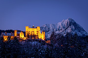 Snowy Night Night Photo Prints - Bavarian Castle Print by Brian Jannsen