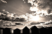 Simon Bratt Photography - Beach huts in black and white