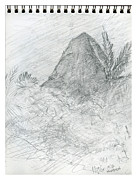 Hawaiian Style Art - Beach Sketch 10 by Kenneth Grzesik