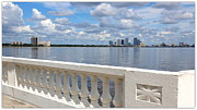 Tampa Skyline Prints - Beautiful Tampa Balustrade Print by Carol Groenen