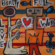 Moma Painting Originals - Beauty Full World by Georges AH PIERRU II