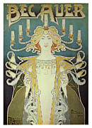 Jugendstil Prints - Becauer Print by Nomad Art And  Design