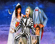 Beetlejuice Framed Prints - Beetlejuice Framed Print by Joe Misrasi