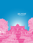 Fraternity Digital Art Posters - Belmont University Poster by Myke Huynh
