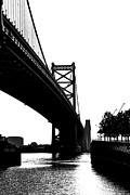 Downtown Franklin Prints - Ben Franklin Bridge Print by Gallery Three