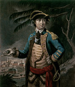 Figure Pose Paintings - Benedict Arnold by English School
