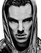 Glare Framed Prints - Benedict Cumberbatch Framed Print by Kayleigh Semeniuk