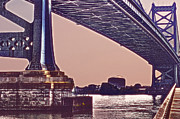 Downtown Franklin Prints - BenFranklin Bridge 2 Print by Gallery Three