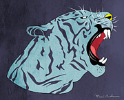 Tiger Illustration Prints - Bengal Print by Mark Ashkenazi