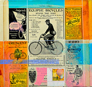 Bicycle Collage Posters - Bicycle Dreams Poster by Michael Pittman