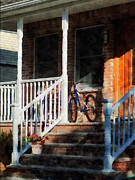 Bicycle On Porch Print by Susan Savad