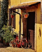 Civitavecchia Prints - Bicycle Under the Porch Print by Dany Lison
