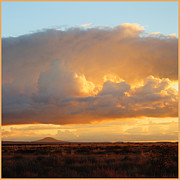 Bierstadt Photo Metal Prints - Bierstadt Clouds Squared Metal Print by Valerie Loop