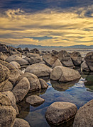 Sand Harbor Photos - Big Boulders At Sand Harbor by Marc Crumpler