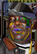 Big Poppa Posters - Biggie Living In Color Poster by Reggie Duffie