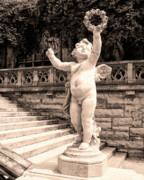 Asheville Photos - BILTMORE CHERUB Asheville NC by William Dey