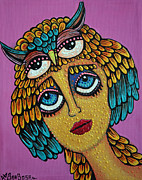 Bazaar Paintings - Bird Brain by Laura Barbosa