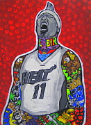 Miami Heat Painting Originals - Birdman by Gary Niles