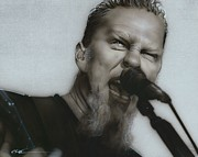 Metallica Painting Posters - Blackened Poster by Christian Chapman Art