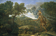 Famous Artists - Blind Orion Searching for the Rising Sun by Nicolas Poussin