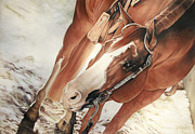 Quarter Horses Pastels - Blondie by Joni Beinborn