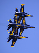 Flight Formation Photos - Blue Angles II by Bill Gallagher