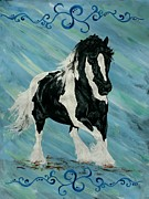 Horse Drawings - Blue dream Gypsy Vanner by Lucka SR