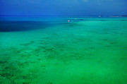 Jenny Rainbow - Blue Emerald. Peaceful Lagoon in Indian...