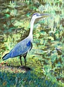 Merging Originals - Blue Heron Hiding by Frank Giordano