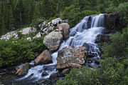 Landscapes Prints - Blue Lake Falls Print by Michael J Bauer
