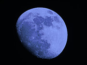 Man-in-the-moon Photo Prints - Blue Moon Print by Gallery Three