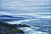 Coast Pyrography - Blue Morning by Peggy Lanford