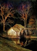 Dan Carmichael - Blue Ridge - Mabry Mill Painted at Night I