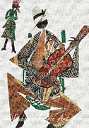Player Tapestries - Textiles - Bluesman by Ruth Ash