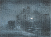 Printmaking Mixed Media - Boardwalk At Night by Steve Dininno