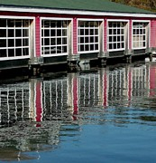 Gail Matthews Prints - Boathouse Reflection Print by Gail Matthews