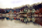 Sport Artist Posters - BoatHouse Row Philadelphia Poster by Gallery Three