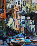 Xueling Zou - Boats in front of the Buildings I