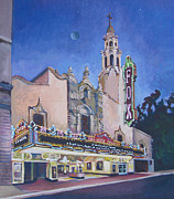 California Contemporary Gallery Framed Prints - Bob Hope Theatre Framed Print by Vanessa Hadady BFA MA