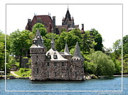 Bay St. Lawrence Posters - Boldt Castle and Powerhouse Poster by Rose Santuci-Sofranko