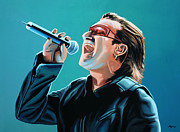 Irish Rock Band Paintings - Bono 2 by Paul Meijering