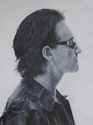 Bono Painting Posters - Bono Poster by David Dunne