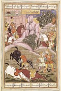 Miniatures Art - Book Of Kings. 16th C. Book Of Firdawsi by Everett